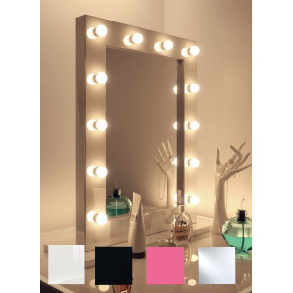 wall mounted led hollywood mirrors diamond x collection