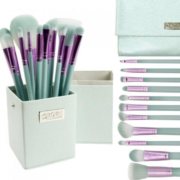 Spearmint and Lilac 12 PC Brush Set