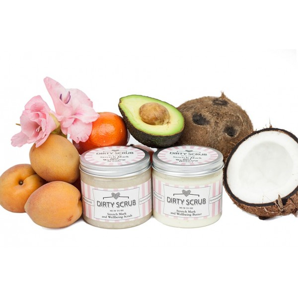 Mum To Be - Scrub and Butter Duo - Dirty Scrub